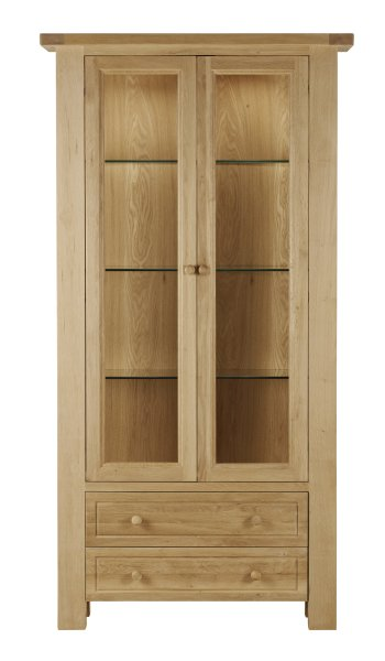 Charltons Bretagne 2 Door Display Cabinet with Light