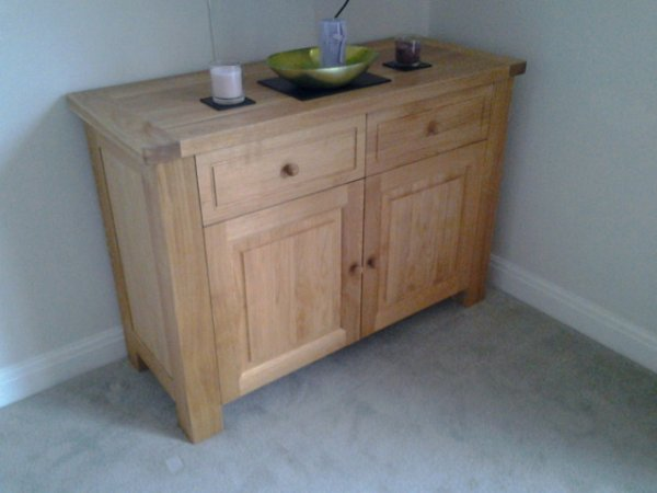 Charltons Bretagne 2 Door 2 Drawer Sideboard in the Natural Monocoat Oil finish in a customer's home