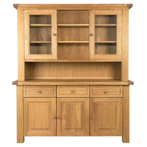 Charltons Bretagne 3 Door 3 Drawer Sideboard & 3 Door 3 Drawer Dresser Top