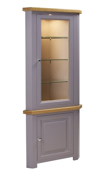 Charltons Bretagne Corner Display Top with Light & Corner Base Unit