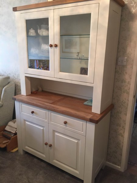 Charltons Bretagne 2 Door 2 Drawer Sideboard & 2 Door 2 Drawer Dresser Top in our customer's home in Derby