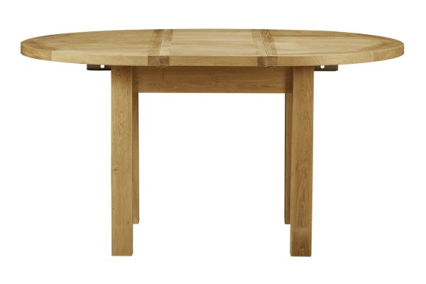 Charltons Bretagne 1100 Round Extending Butterfly Dining Table - 4 to 6 Seater Dining Table