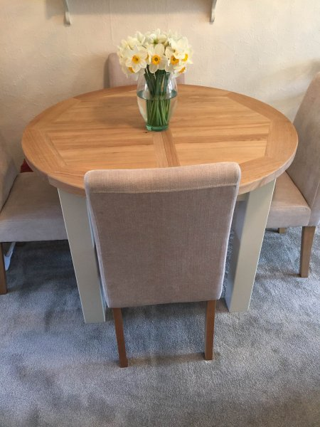 Charltons Bretagne Round Dining Table in a customer's home