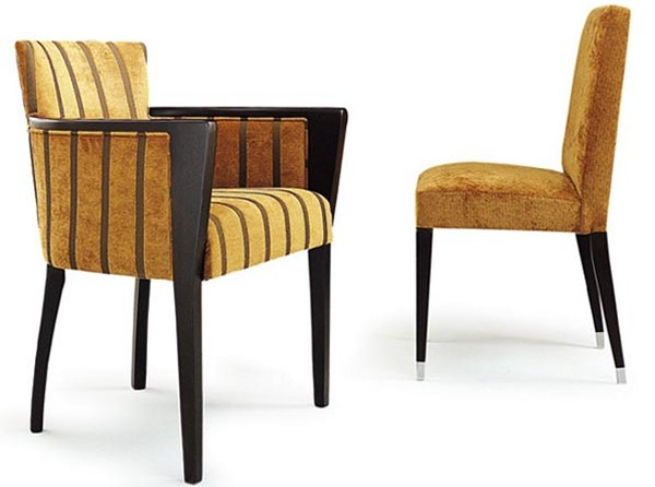Collinet Sieges Moderne Armchair and Chair