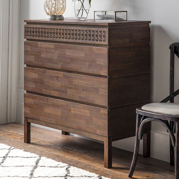 Gallery Direct Boho Retreat Contemporary 4 Drawer Chest of Drawers