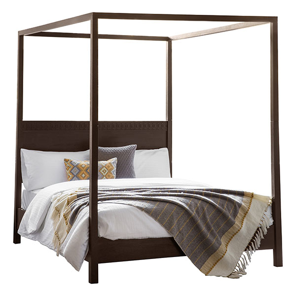 Gallery Direct Boho Retreat Contemporary 5Ft King Size 4 Poster Bed