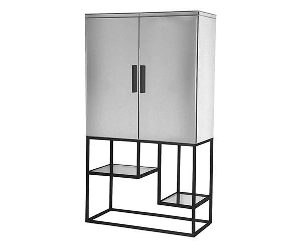 Gallery Direct Pippard Black Contemporary Bar Cabinet