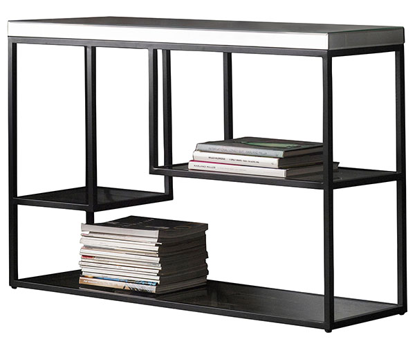 Gallery Direct Pippard Black Contemporary Console Table