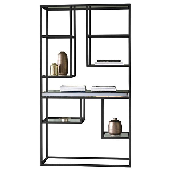 Gallery Direct Pippard Black Contemporary Open Display Unit