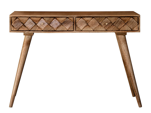Gallery Direct Tuscany Burnt Wax Contemporary Console Table