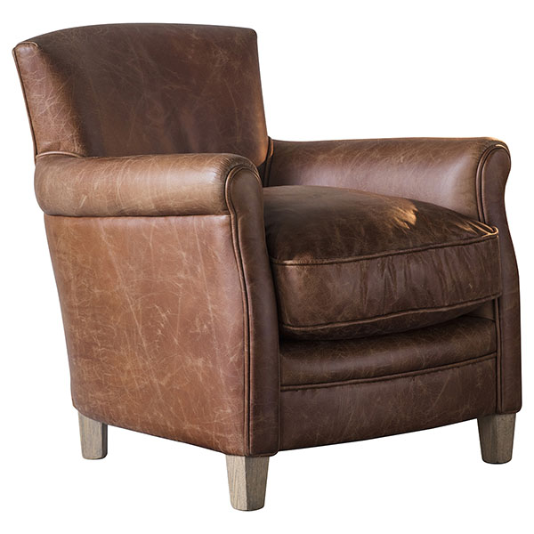 Gallery Direct Mr Paddington Leather Armchair in Saddle leather