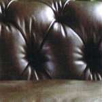 Tetrad Chatsworth Chesterfield sofa back in Old Saddle Walnut leather