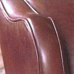 Contrast Upholstery Chaucer Chair arm top in Old Saddle Brown