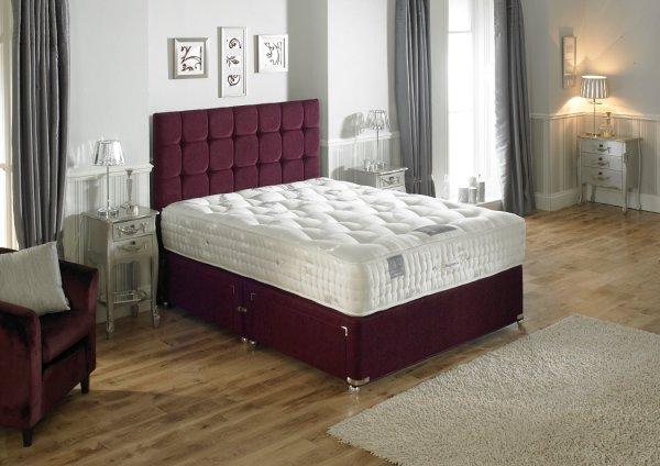 Hampton Bed Company Heritage Collection Belgravia 7000 Bed with a Dorchester Floor Standing Headboard