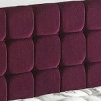 Dorchester Headboard shown here in Aubergine fabric