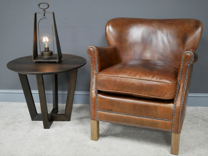 Brazilian Brown Leather Cosy Chair