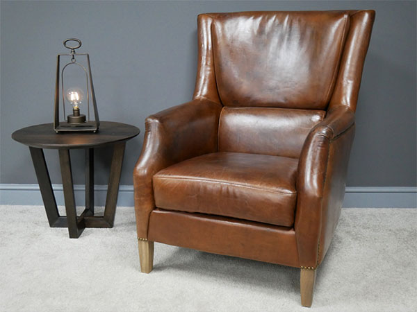 Brazilian Brown Leather Reading Chair