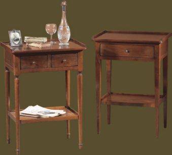 Felix Monge Louis Philippe 2 Drawer and Directoire 1 Drawer Glass of Water Tables