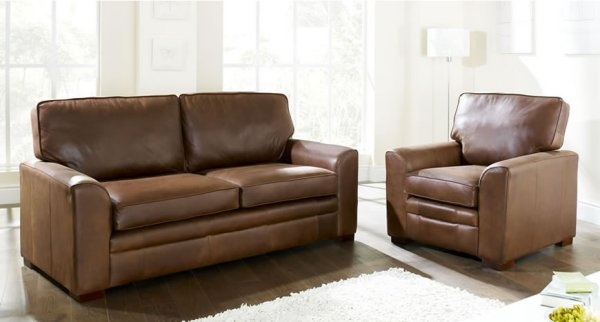 The Sofa Collection Liberty Premium Leather Sofa & Armchair by Forest Sofa