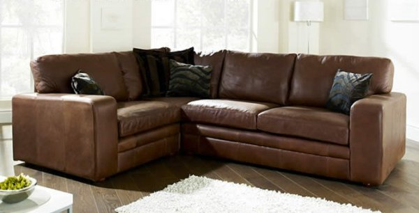 The Sofa Collection Modular Corner Unit Premium Leather Sofa by Forest Sofa