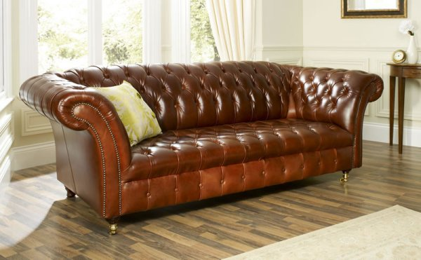 The Sofa Collection Balmoral Vintage Leather Sofa by Forest Sofa