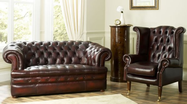 The Sofa Collection Baron Vintage Leather Chesterfield Sofa by Forest Sofa