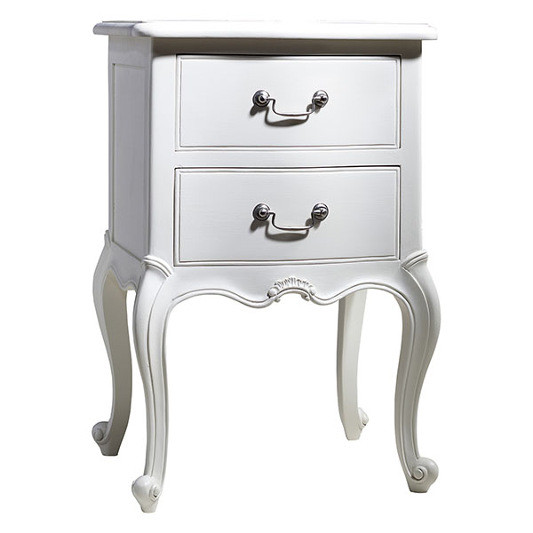 Gallery Direct Chic Vanilla White Bedside Table