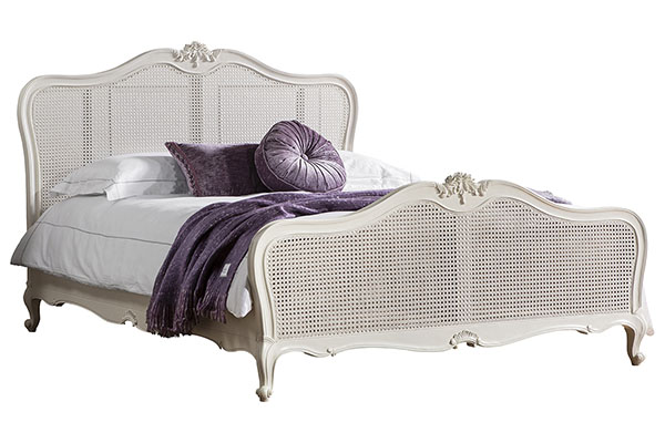 Gallery Direct Chic Vanilla White 5Ft King Size Cane Bed