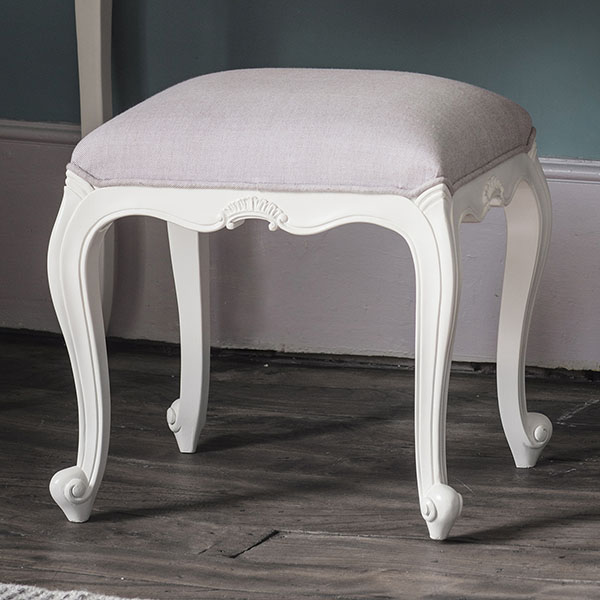Gallery Direct Chic Vanilla White Dressing Table Stool