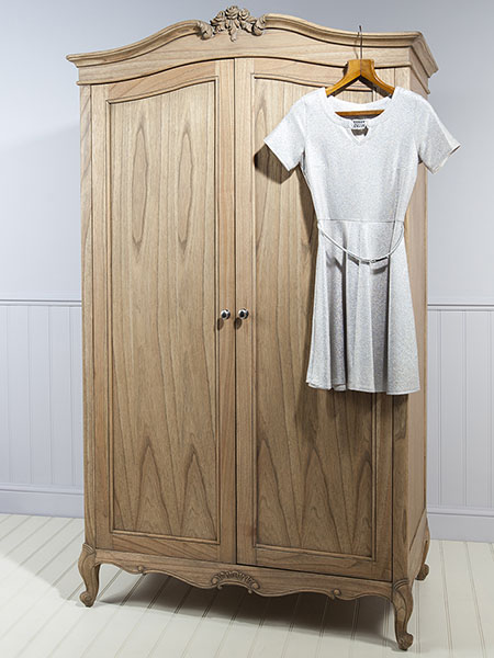 allery Direct Chic Weathered 2 Door Wardrobe / Armoire