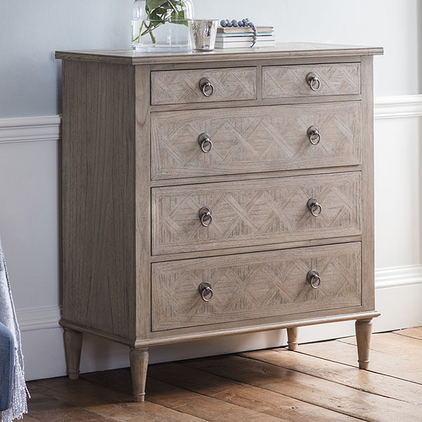 Gallery Direct Mustique 5 Drawer Chest of Drawers