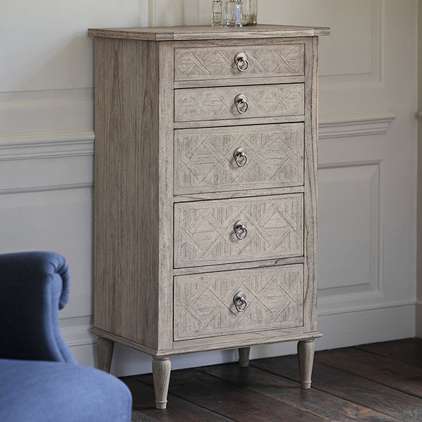 Gallery Direct Mustique 5 Drawer Lingerie Chest of Drawers