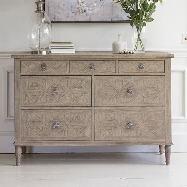 Gallery Direct Mustique 7 Drawer Chest of Drawers