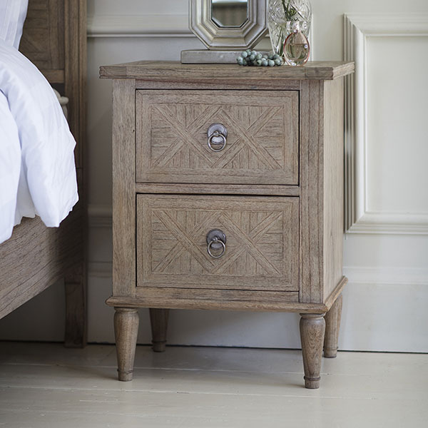 Gallery Direct Mustique 2 Drawer Bedside Table