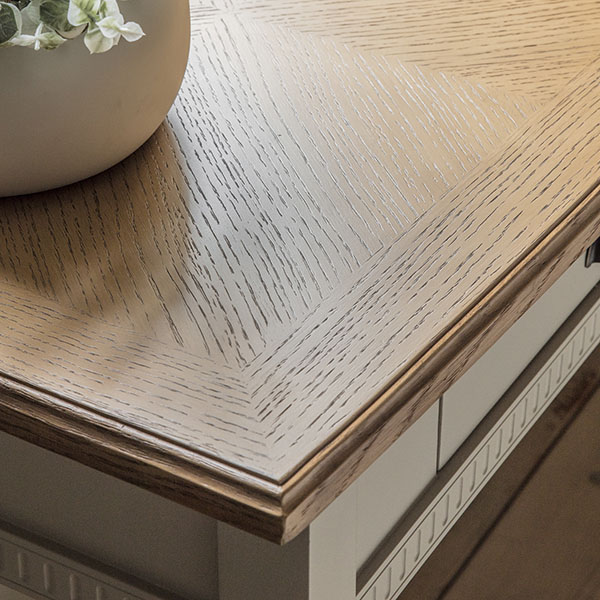 Gallery Direct Bronte Taupe Desk - Close up image