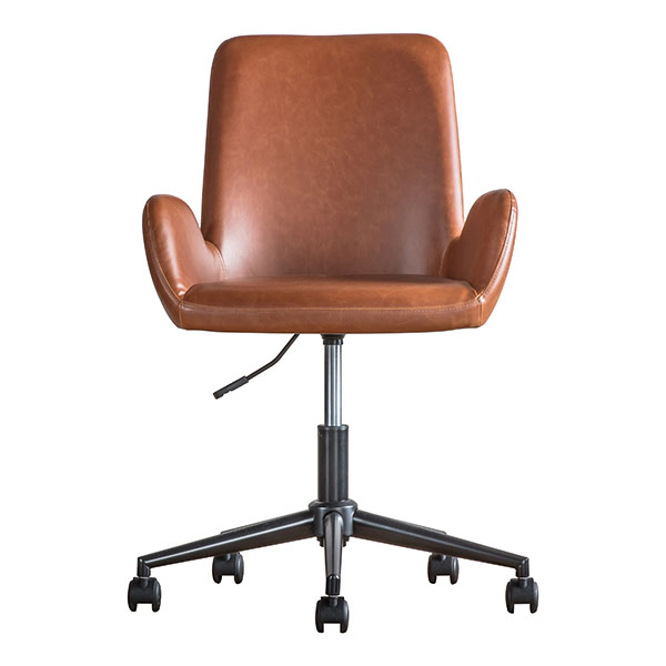Gallery Direct Faraday Brown Swivel Chair