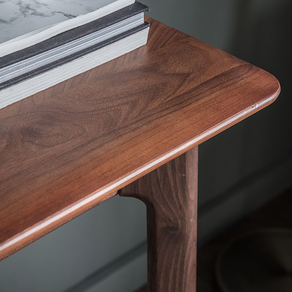 Gallery Direct Madrid Walnut 1 Drawer Desk - Close up image