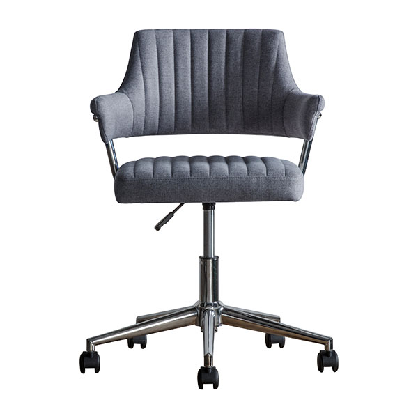 Gallery Direct McIntyre Charcoal Swivel Chair