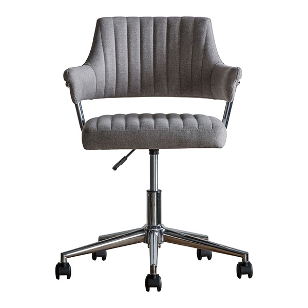Gallery Direct McIntyre Grey Swivel Chair
