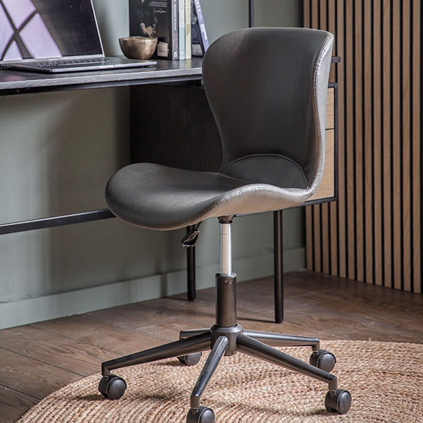 Gallery Direct Mendel Charcoal Swivel Chair