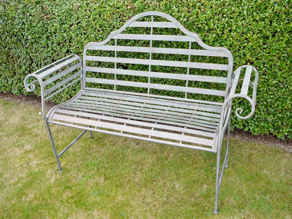 Rustic Metal Garden Bench