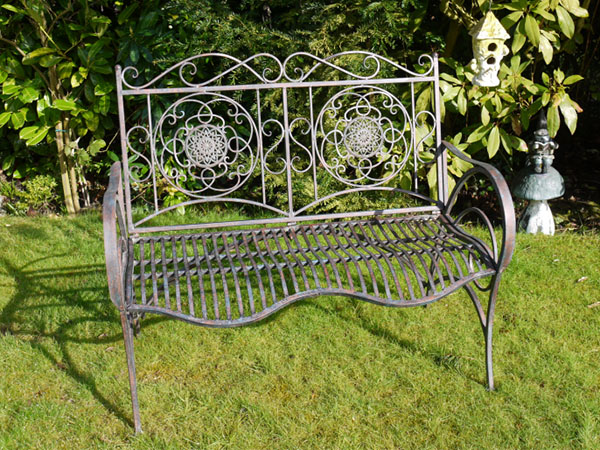 Wave Metal Garden Bench
