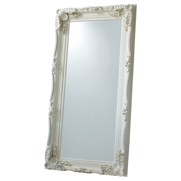 Gallery Direct Cream Carved Louis Leaner Mirror