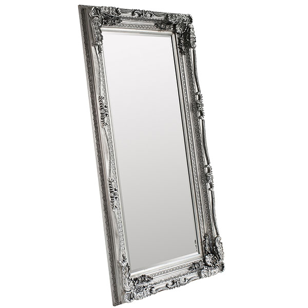 Gallery Direct Silver Carved Louis Leaner Mirror
