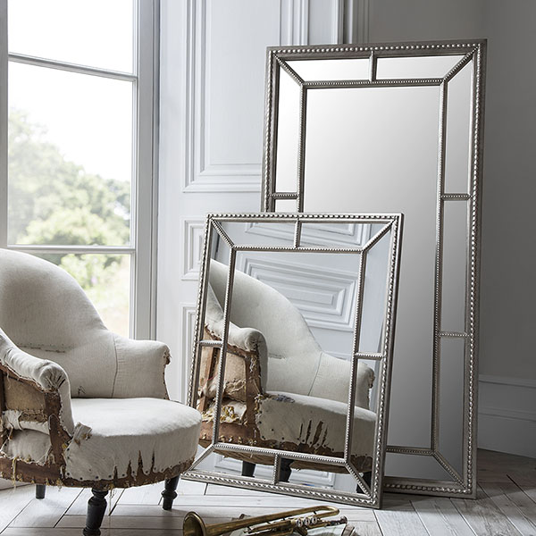 Gallery Direct Lawson Wall Mirror and behind it the Lawson Leaner Mirror