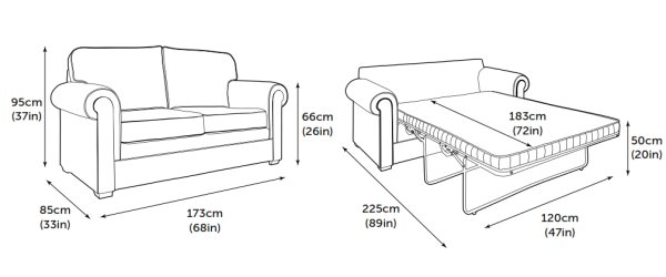 Jay-Be Classic Sofa Bed Product Dimensions
