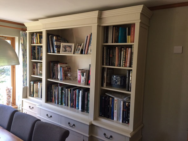 Stanton Large Breakfront Library Bookcase in a happy customer's home