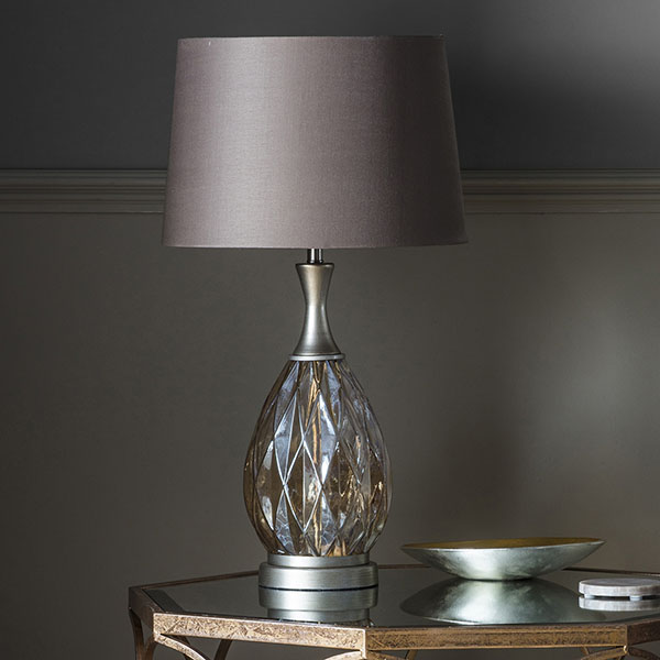 Gallery Direct Clarence Table Lamp with Champagne Shade