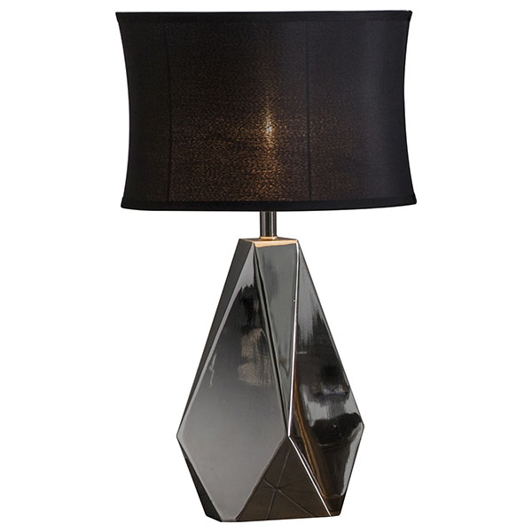Gallery Direct Inkerman Table Lamp with Black Shade