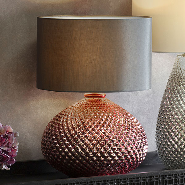 Gallery Direct Livia Table Lamp with Black Shade